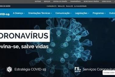 Governo do Estado lança novo site que reúne informações sobre coronavírus