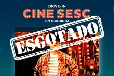 Ingressos para o Cine Sesc Drive-in em Igrejinha estão esgotados