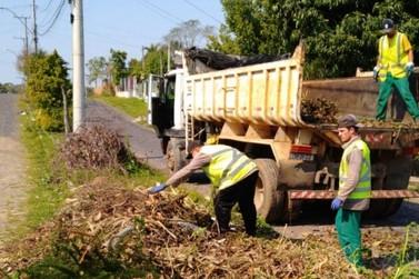 Recolhimento de podas está em andamento em Taquara