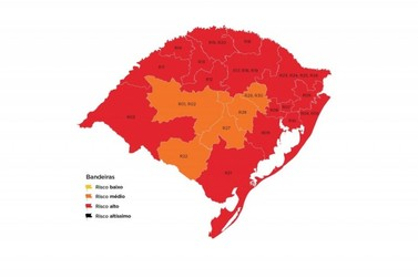 Vale do Paranhana segue classificado em bandeira vermelha pelo Governo do Estado
