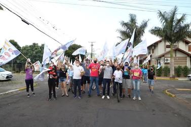 Sábado foi de intensa programação da campanha de Leandro e Joãozinho