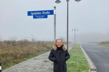 Igrejinha vira nome de rua em Simmern, cidade-irmã na Alemanha