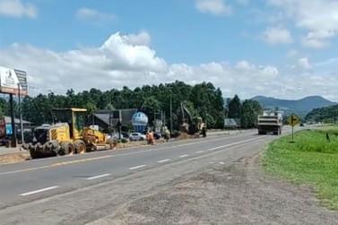 EGR inicia obra de acesso ao Distrito Industrial na ERS-115 em Igrejinha