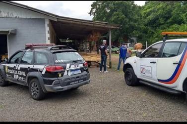 Polícia realiza diligência e interdita empresa igrejinhense suspeita de fraudes