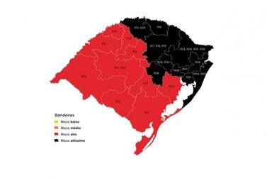 Bandeira Preta: Estado confirma Paranhana com risco altíssimo para coronavírus