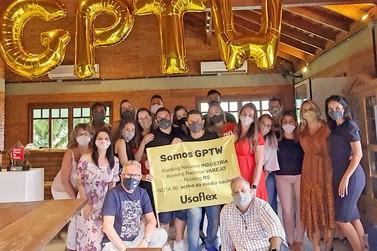 Usaflex comemora a classificação em mais dois rankings do Great Place to Work