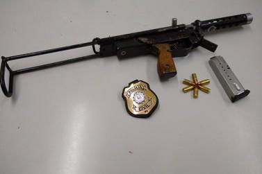 Armamento restrito: Homem é preso por posse de submetralhadora em Três Coroas
