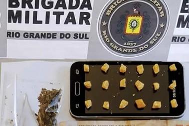 Brigada Militar apreende menor de idade por tráfico de drogas em Igrejinha