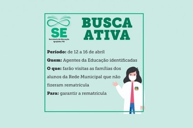 Município de Igrejinha promoverá busca ativa para evitar evasão escolar