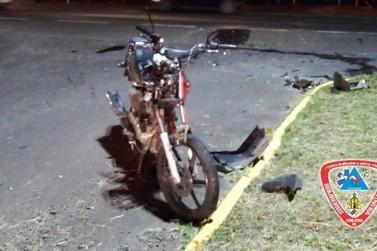 Piloto de moto fica ferido após colisão com carro na ERS-115 em Igrejinha