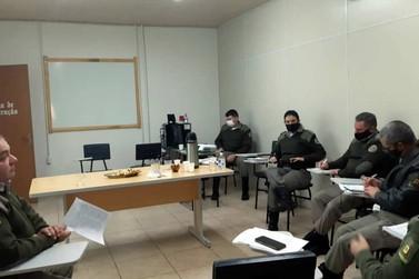 1º BPAT realiza reunião estratégica na sede da Brigada Militar em Igrejinha