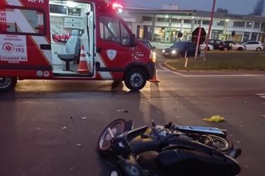 Acidente com colisão deixa motociclista ferida na ERS-115, em Igrejinha