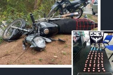 Após fuga: GPOM de Itatiba apreende drogas e motocicleta