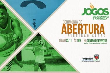 Abertura dos Jogos de Aventura e Natureza neste sábado (23) em Ribeirão Claro