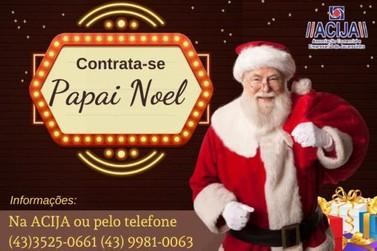 ACIJA contrata funcionário para Papai Noel em Jacarezinho