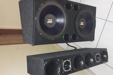 Caixas de som foram apreendidas por causa de barulho em Santo Antônio da Platina