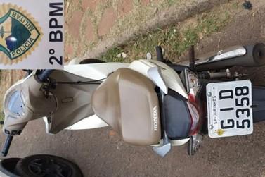 Motoneta furtada em Ourinhos é encontrada no bairro Aeroporto de Jacarezinho