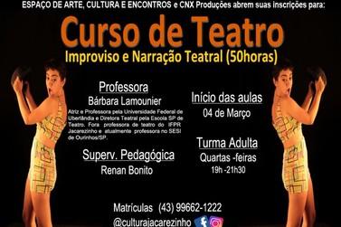 Matrículas abertas para Curso de Teatro em Jacarezinho