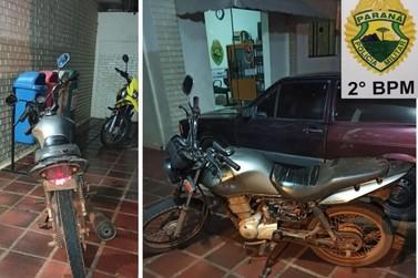 Motocicleta sem placa e com chassi suprimido é apreendida em Cambará