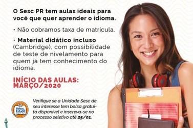 SESC abre inscrições para bolsas de estudos em inglês