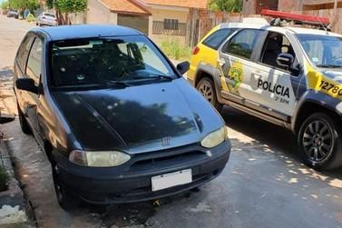 Veículo roubado é encontrado em Santo Antônio da Platina