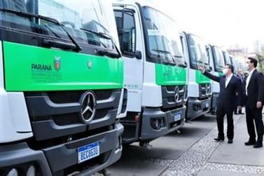 Cinco municípios do Norte Pioneiro do Paraná recebem caminhões novos