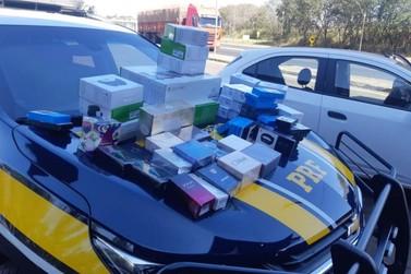 PRF apreende em Jacarezinho diversos eletrônicos contrabandeados