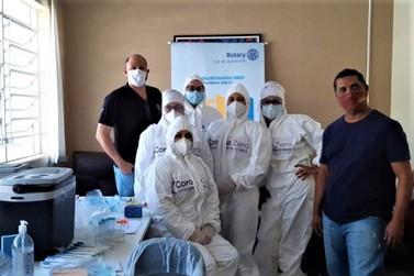 """Asilo recebe projeto """"Corona Zero"""" do Rotary Club de Jacarezinho"""