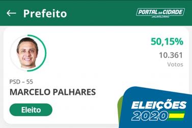 Marcelo Palhares (PSD), é prefeito de Jacarezinho com mais de 50% dos votos