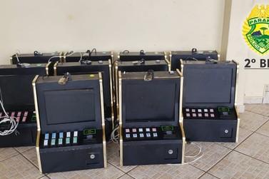 Máquinas caça-níqueis são apreendidas em bar em Santo Antônio da Platina