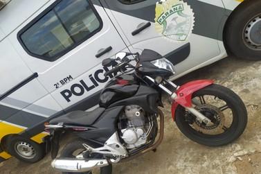 ROCAM apreende moto em Santo Antônio da Platina