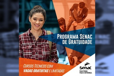 Senac PR oferece cursos técnicos com vagas gratuitas para o segundo semestre