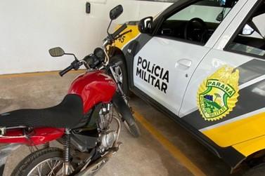 Moto furtada é recuperada pela Polícia Militar em Santo Antônio da Platina
