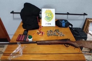 Suspeito de invadir propriedade rural é detido e preso, em Jundiaí do Sul