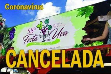 Festa da Uva cancelada!
