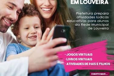 Secretaria de Educação de Louveira inicia atividades lúdicas educativas on-line