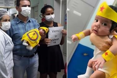Bebê de um mês de vida recebe alta médica após vencer a Covid-19