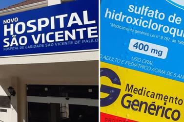 Hospital São Vicente suspende uso de hidroxicloroquina