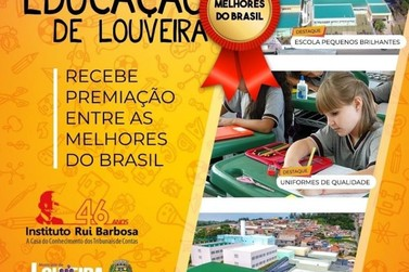 Educação de Louveira é Premiada entre as melhores do Brasil