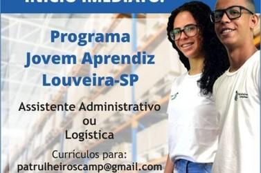 Aberto para Vagas de Jovem Aprendiz na área Administrativa e Logística.