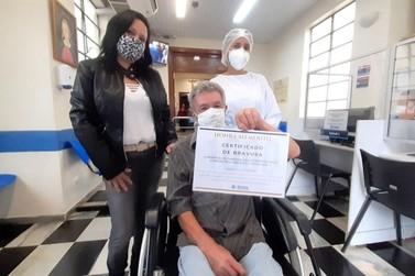 Milésimo paciente curado da Covid a ter alta de hospital em Jundiaí