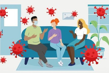 Tabela avaliar o risco de infecção cada vez que você vai a um evento social
