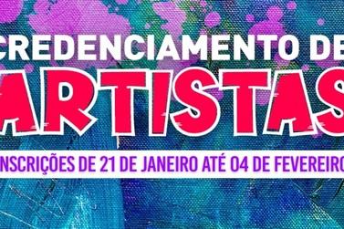 Prefeitura abre Chamamento Público para credenciar artistas