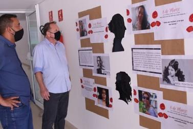 Exposição organizada no CRAS Centro faz homenagem às mulheres em Louveira