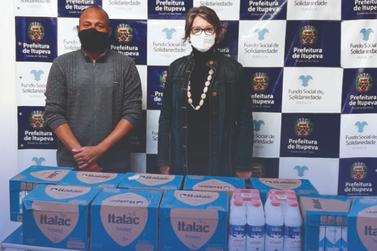 Fundo Social de Itupeva recebe 228 litros de leite