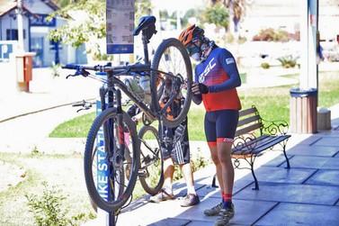 Ferramentas de bike station na Estação Ferroviária foram furtadas em Louveira
