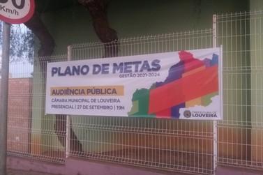 Louveira Audiência Pública para apresentação do Plano de Metas Gestão 2021-2024