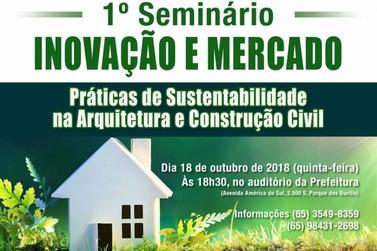 Seminário de Arquitetura e Construção Civil será realizado no próximo dia 18