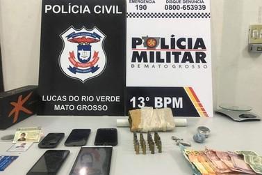 Rapaz é preso com quase 1 kg de maconha em Lucas do Rio Verde