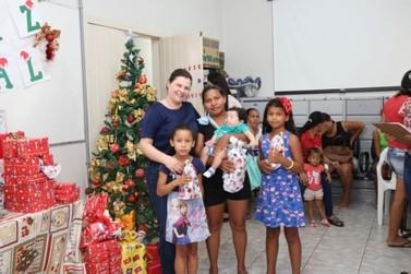 Crianças do Pró-Família recebem presentes em Lucas do Rio Verde